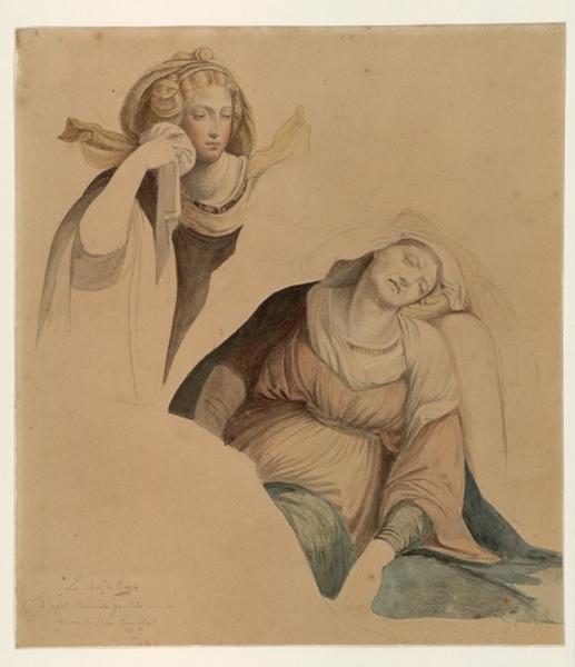 TISI Benvenuto (d'après), GAROFALO IL (dit), anonyme : L'évanouissement de la Vierge, étude de détail