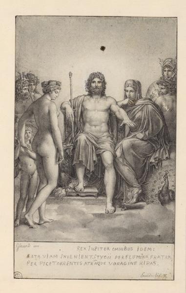 GERARD François baron (dessinateur, peintre) : L'Olympe, sujet tiré de l'Enéide