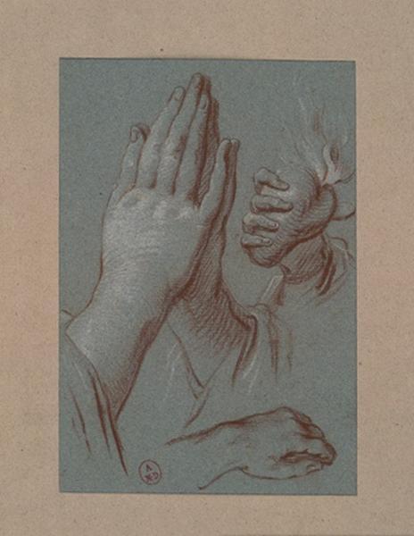 DAUBAN Jules Joseph (dessinateur) : Etudes de mains