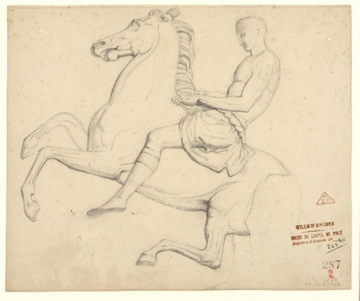 Cavaliers d'après l'antique (copie d'une frise du Parthénon, ?)_0