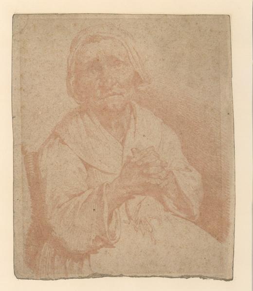 Vieille femme assise ; Vieille femme en prière (autre titre)