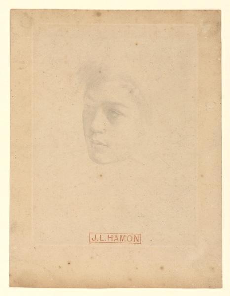 HAMON Jean-Louis (dessinateur) : Tête d'enfant