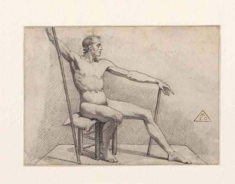 Académie ; Etude d'homme (modèle d'atelier)_0