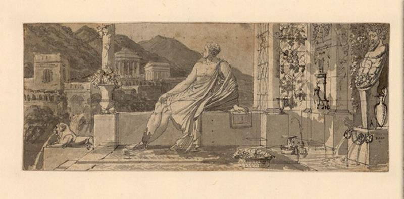 Composition pour l'Horace de Didot ; Dessin d'architecture_0