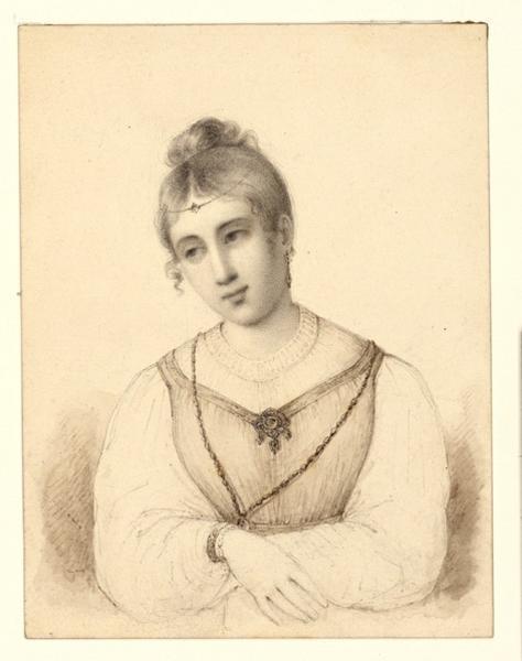 SAINT-AMAND Pierre Honoré Bourdon de (dessinateur) : Portrait de femme