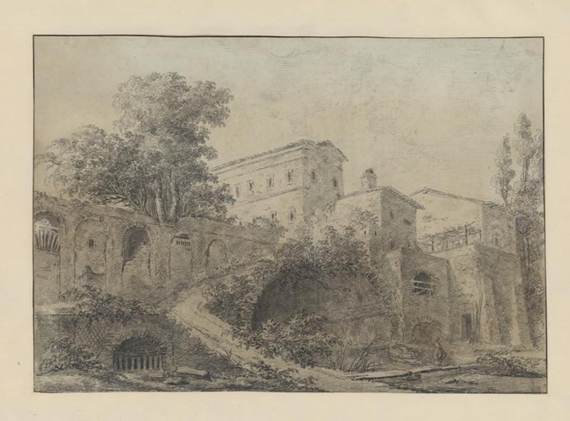 Une villa italienne ; Paysage. Ruines. Monuments (autre titre) ; Palais en Italie (autre titre)