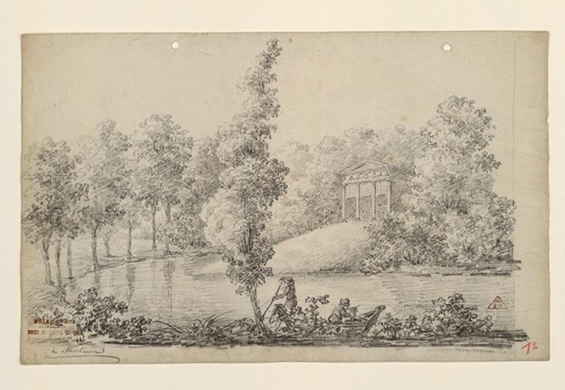 TURPIN DE CRISSE Lancelot Henri Roland, TURPIN DE CRISSE Père (dessinateur) : Shirburn, bord de rivière