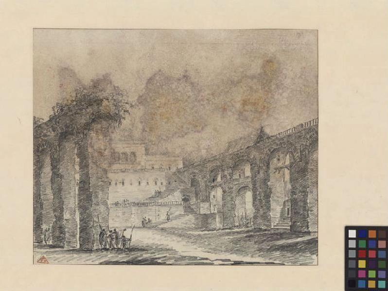 Palais et ruines d'un aqueduc ; Paysage. Ruines. Monuments_0