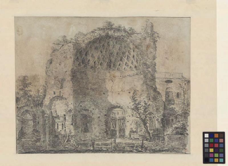 Temple de Vénus et de Rome ; Paysage. Ruines. Monuments