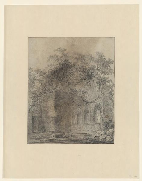 La fontaine Egérie, près de Rome ; Paysage - Ruines d'Italie