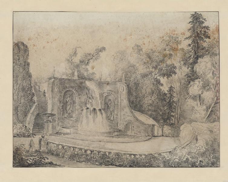 Fontaine de la villa Aldobrandini à Frascati ; Paysage - Ruines d'Italie_0
