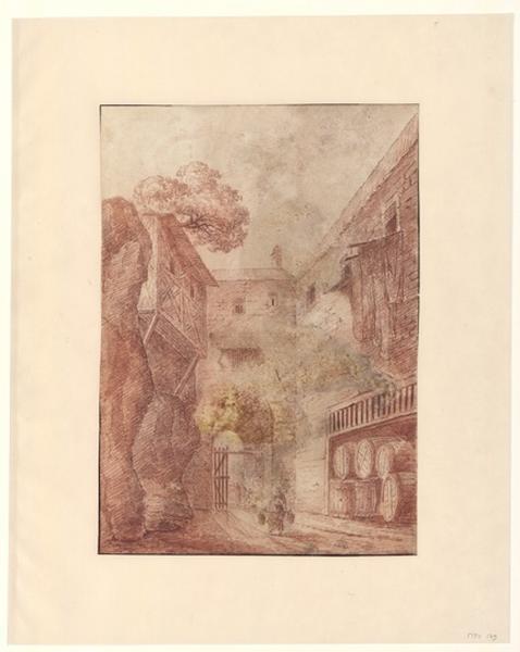 Une rue dans un village du Bordelais ; Paysage - Ruines d'Italie ; Ruelle
