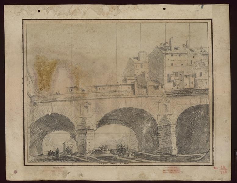 Paris, vue du Pont Marie ; Du pont Marie à Poitiers (titre donné par Jouin)_0