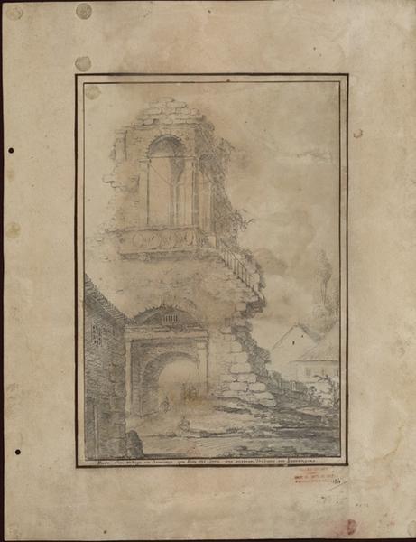 Porte d'un village de Saintonge (que l'on dit être une ancienne tribune aux harangues)