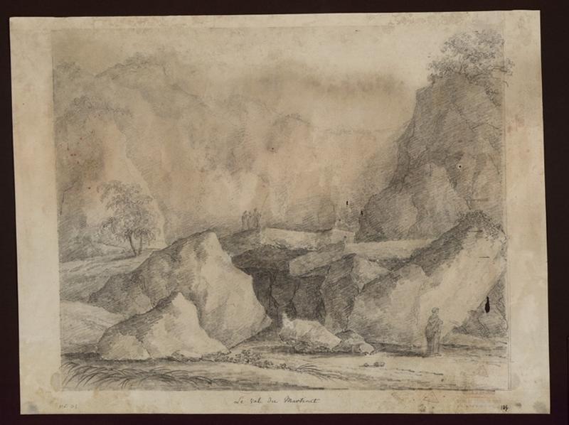 TURPIN DE CRISSE Lancelot Henri Roland, TURPIN DE CRISSE Père (?, dessinateur), TURPIN DE CRISSE Lancelot Théodore Comte de (?, dessinateur) : Le Val du Martinet