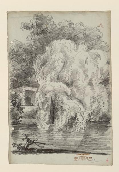 TURPIN DE CRISSE Lancelot Henri Roland, TURPIN DE CRISSE Père (dessinateur) : Un bouquet d'arbres près d'une rivière