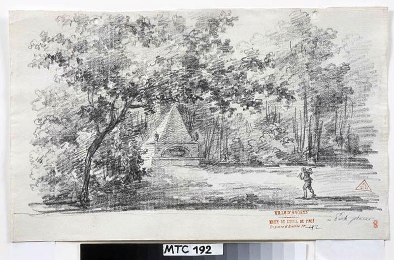 TURPIN DE CRISSE Lancelot Henri Roland, TURPIN DE CRISSE Père (dessinateur) : Les jardins de Park-Place, Parek-Place