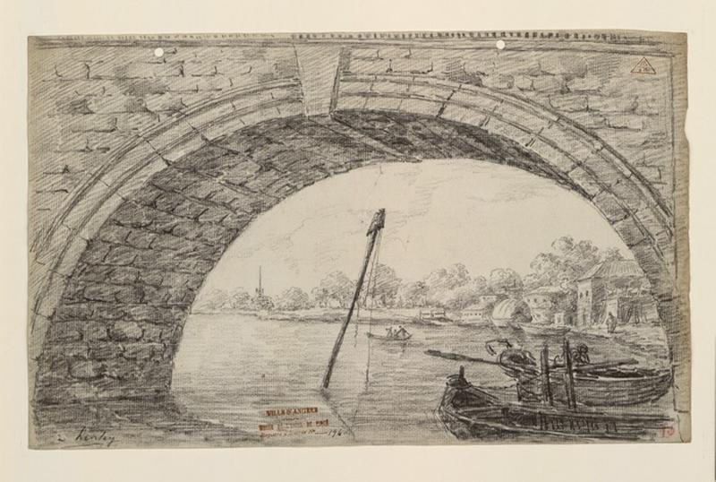 TURPIN DE CRISSE Lancelot Henri Roland, TURPIN DE CRISSE Père : Vue sous une arche du pont de Henley-on-Thames