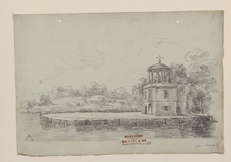 TURPIN DE CRISSE Lancelot Henri Roland, TURPIN DE CRISSE Père (dessinateur) : L'île de Regatta près d'Henley-on-Thames