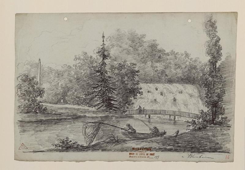 Les jardins de Blenheim (la cascade) ; Blenheim_0