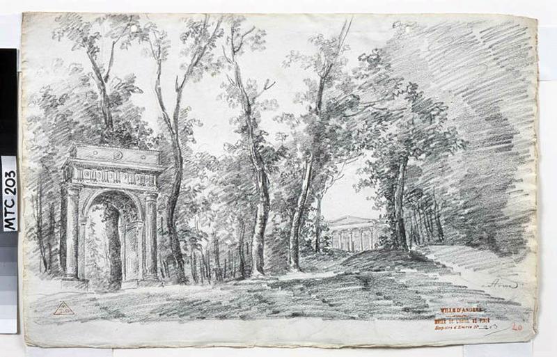 TURPIN DE CRISSE Lancelot Henri Roland, TURPIN DE CRISSE Père (dessinateur) : Les jardins de Stowe