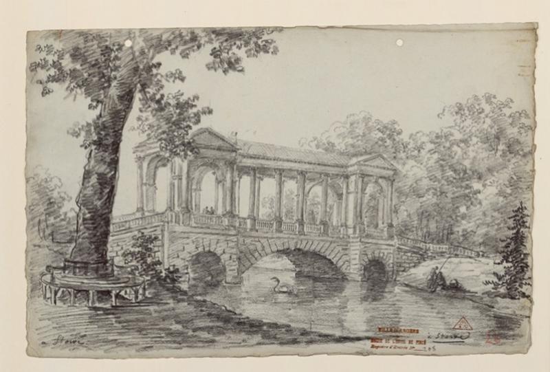 TURPIN DE CRISSE Lancelot Henri Roland, TURPIN DE CRISSE Père (dessinateur) : Les jardins de Stowe, Stowe