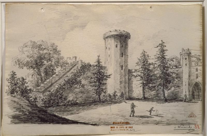 TURPIN DE CRISSE Lancelot Henri Roland, TURPIN DE CRISSE Père (dessinateur) : Le château de Warwick, Warwick