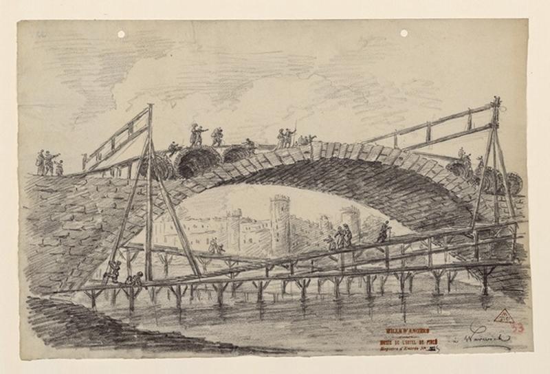 Le pont du château à Warwick ; Warwick_0