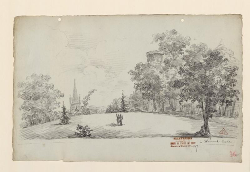 Les jardins du château de Warwick ; Warwick, castel