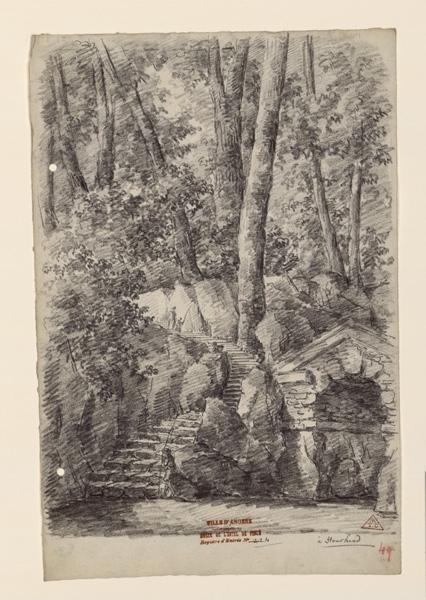 TURPIN DE CRISSE Lancelot Henri Roland, TURPIN DE CRISSE Père (dessinateur) : Les jardins de Stourhead, Stourhead