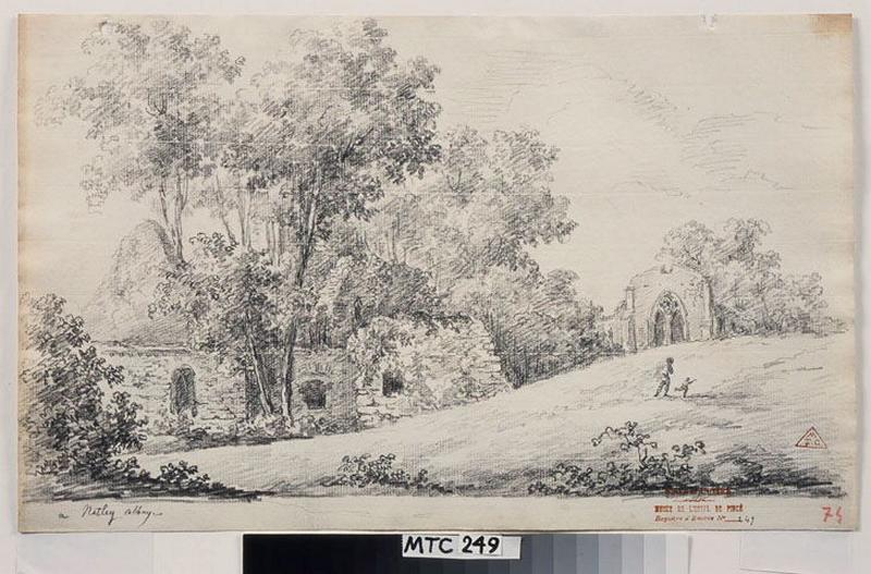 Vue des ruines de l'abbaye de Netley ; A Netley Abbaye