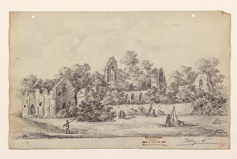 Vue des ruines de l'abbaye de Netley ; A Netley Abbaye_0