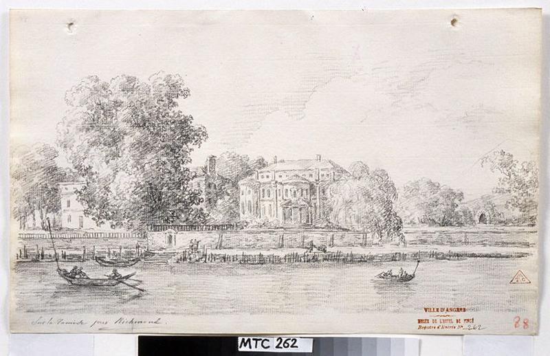 TURPIN DE CRISSE Lancelot Henri Roland, TURPIN DE CRISSE Père (dessinateur) : Sur la Tamise, près de Richmond