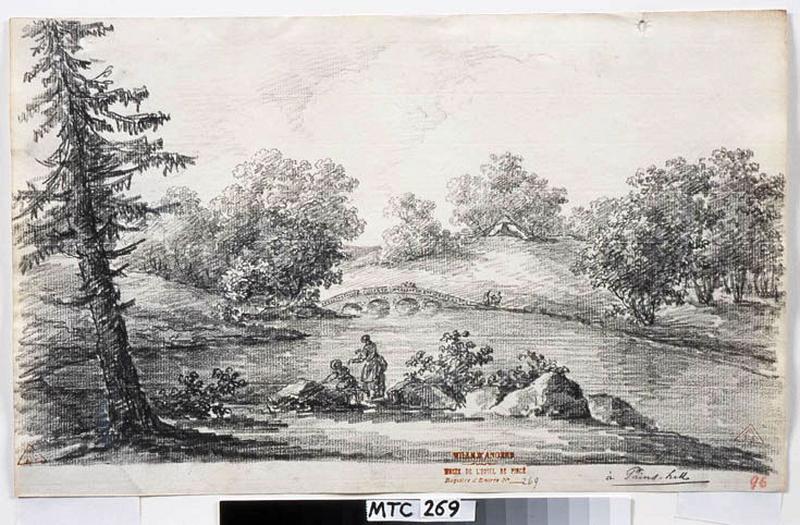 TURPIN DE CRISSE Lancelot Henri Roland, TURPIN DE CRISSE Père (dessinateur) : Les jardins de Painshill, A Pains-Hill