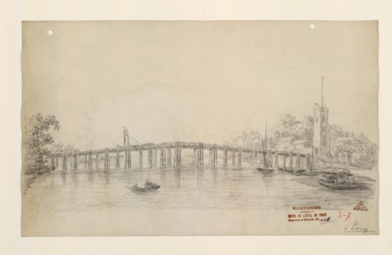 Vue d'ensemble du pont de Fulham (environs de Londres) ; A Putney (Londres)