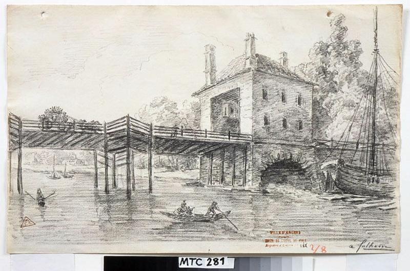 Le pont de Fulham (environs de Londres) ; A Fulham