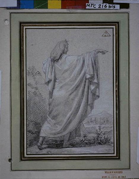 TURPIN DE CRISSE Lancelot Théodore Comte de (?), anonyme (?) : Personnage drapé debout