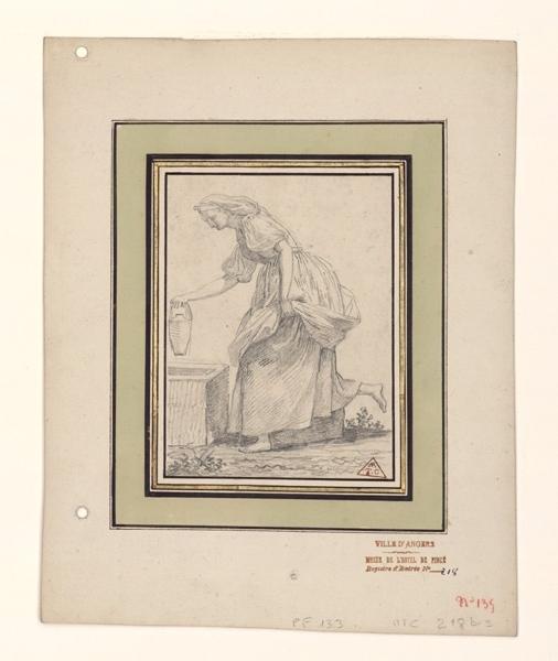 TURPIN DE CRISSE Lancelot Théodore Comte de (?), anonyme (?) : Italienne à la fontaine