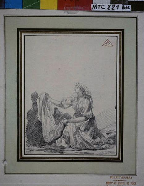 TURPIN DE CRISSE Lancelot Théodore Comte de (?), anonyme (?) : Italienne au genou à terre