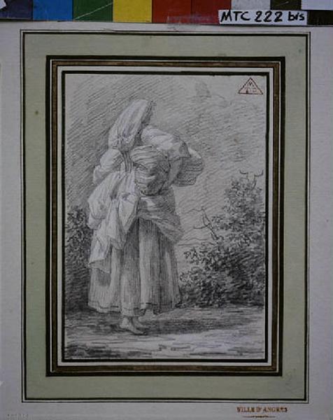TURPIN DE CRISSE Lancelot Théodore Comte de (?), anonyme (?) : Italienne portant un fardeau sous le bras
