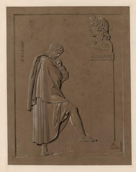 César devant le buste d'Alexandre_0