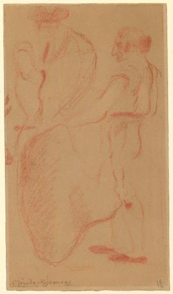 MERODACK-JEANEAU Alexis (dessinateur, peintre) : Croquis de courses de taureaux
