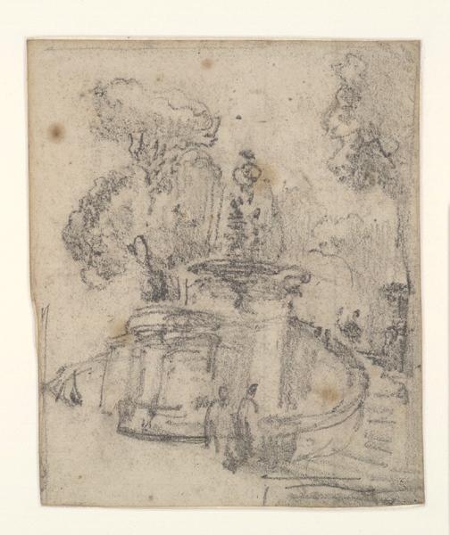 CONSTANTIN Auguste Aristide (dessinateur) : Paysage d'Italie