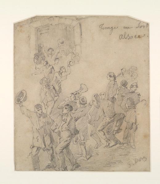 DORE Gustave (dessinateur) : Tirage au sort en Alsace
