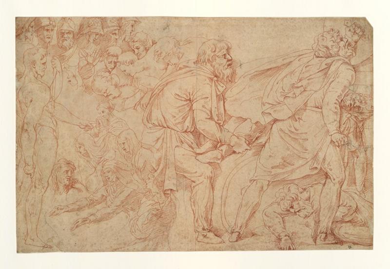 FRANCO Battista (dessinateur, peintre) : Etude pour une composition historique