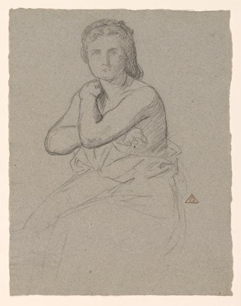 Femme assise (Modéle au repos.)_0