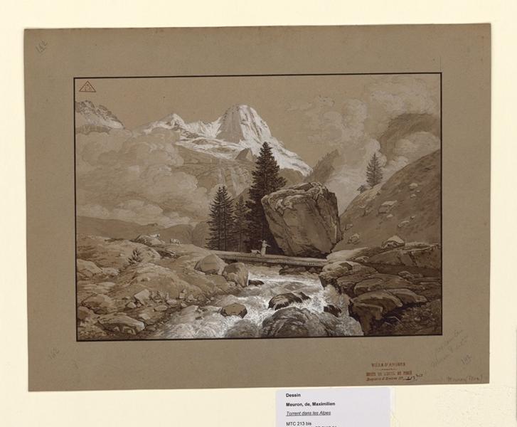 Torrent dans les Alpes ; Torrent dans la montagne (autre titre) ; Vue de Suisse (autre titre)_0