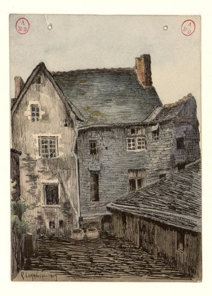 LEMANCEAU Louis (dessinateur, peintre) : Angers, boulevard du Ronceray
