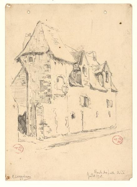 LEMANCEAU Louis (dessinateur, peintre) : Route des Ponts-de-Cé