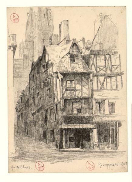 Angers, rue de l'Evêché